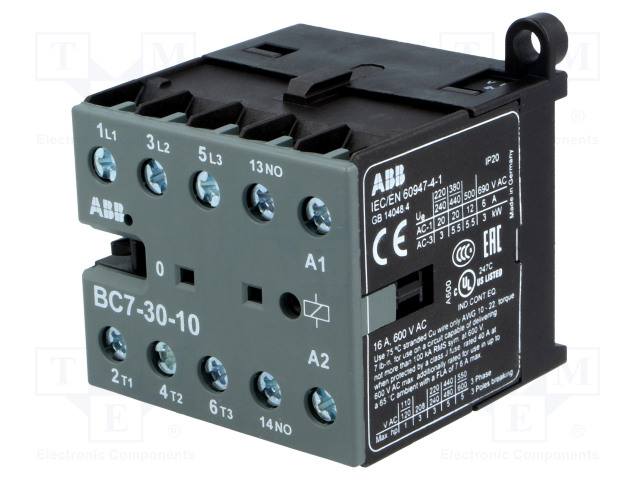 GJL1313001R1106_Contactor:3-pole; NO x3; Auxiliary contacts: NO; 48VDC; 7A; BC7