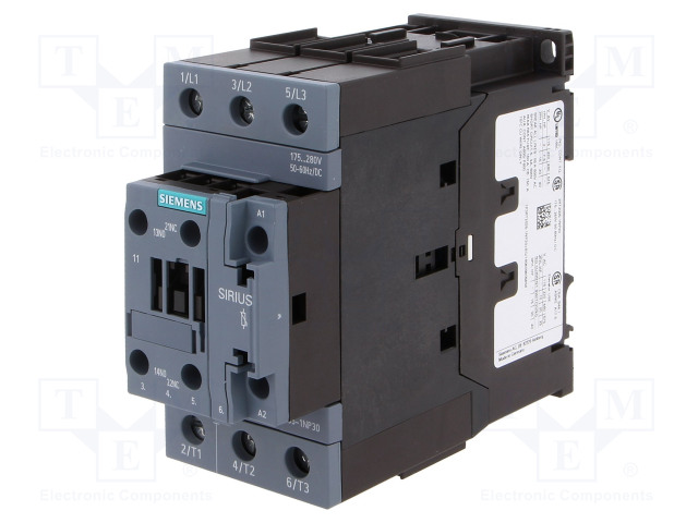 3RT2035-1NP30_Contactor:3-pole; NO x3; Auxiliary contacts: NO + NC; 175÷280VAC