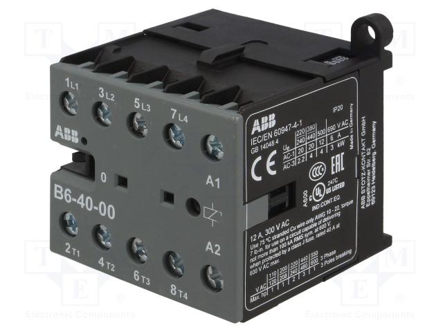 GJL1211201R8000_Contactor:4-pole; NO x4; 220÷240VAC; 6A; DIN