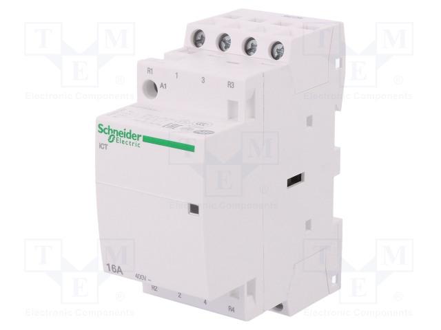A9C22818_Contactor:4-pole installation; NC x2 + NO x2; 230÷240VAC; 16A