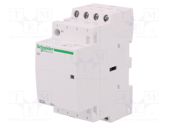 A9C20834_Contactor:4-pole installation; NO x4; 230÷240VAC; 25A; DIN; ICT