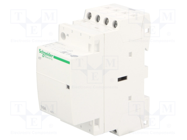 A9C22114_Contactor:4-pole installation; NO x4; 24VAC; 16A; DIN; ICT; W:36mm
