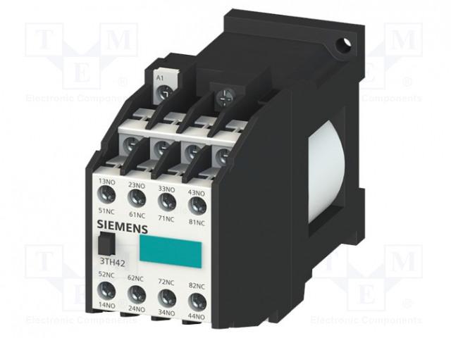 3TH4293-0BB4_Contactor:8-pole; NC x3 + NO x3; 24VDC; 10A; DIN; screw terminals