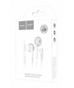 HCL10W_HOCO HANDSFREE L10 STEREO EARPHONES TYPE C CONNECTOR white
