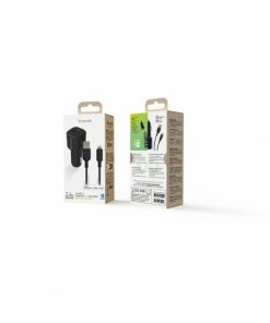 MCPAK0014_MUVIT FOR CHANGE CAR CHARGER MFI 2.4A 12W + DATA CABLE LIGHTNING black