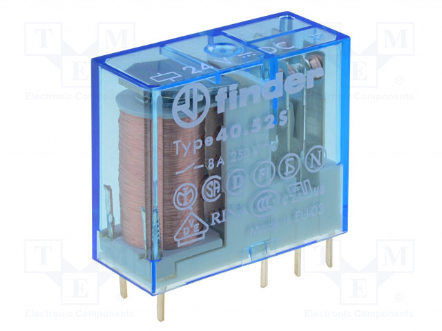 40.52.9.014.2000_Relay: electromagnetic; DPDT; Ucoil:14VDC; 8A/250VAC; 8A/30VDC