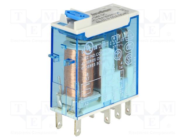 46.52.9.024.0040_Relay: electromagnetic; DPDT; Ucoil:24VDC; 8A/250VAC; 8A/30VDC