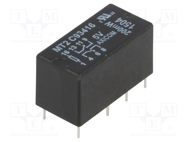 3-1462000-1_Relay: electromagnetic; DPDT; Ucoil:5VDC; max.250VAC; max.220VDC
