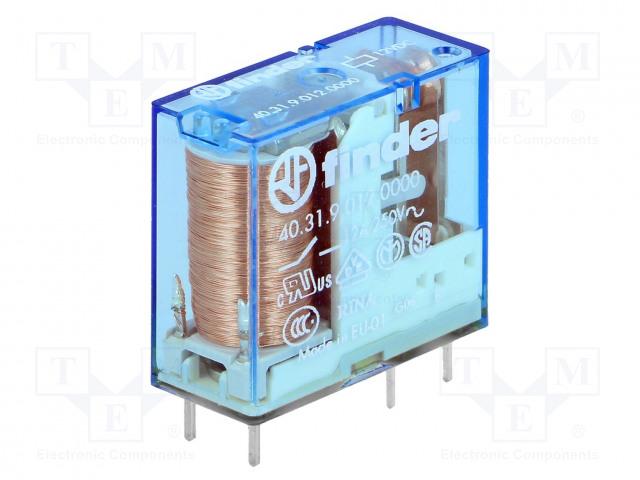 40.31.9.012.0000_Relay: electromagnetic; SPDT; Ucoil:12VDC; 10A/250VAC; 10A/30VDC
