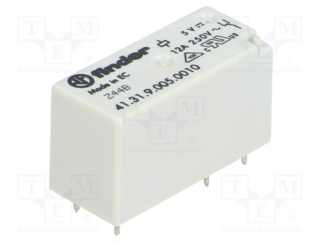 41.31.9.005.0010_Relay: electromagnetic; SPDT; Ucoil:5VDC; 12A/250VAC; 12A/30VDC