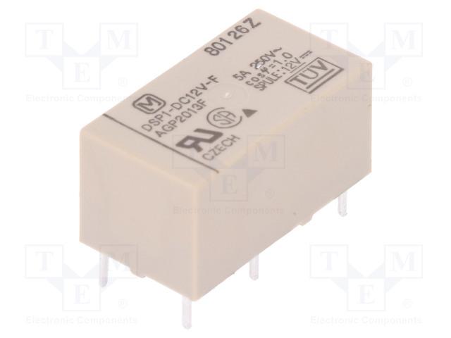 DSP1-DC12V-F_Relay: electromagnetic; SPST-NO + SPST-NC; Ucoil:12VDC; 480Ω