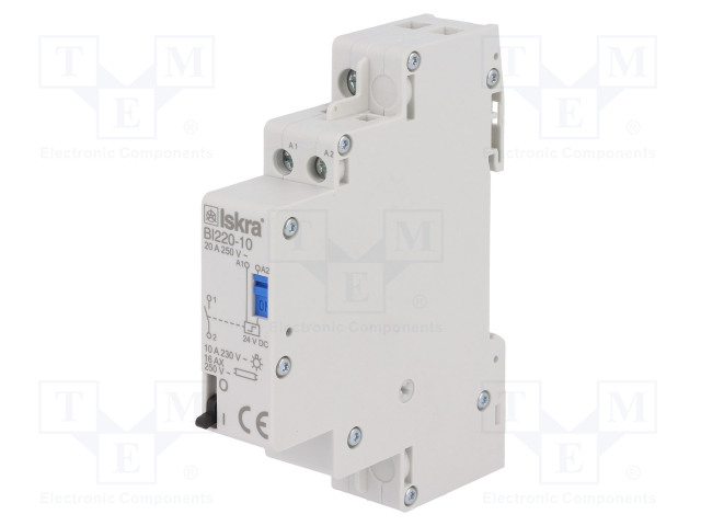 30.070.152_Relay: installation; bistable; NO; Ucoil:24VDC; 17.6x90x65mm; 20A