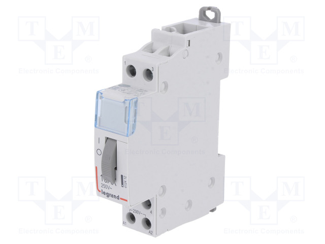 PB 402_Relay: installation; bistable; NO x2; Ucoil:230VAC; 17.8x94x69mm