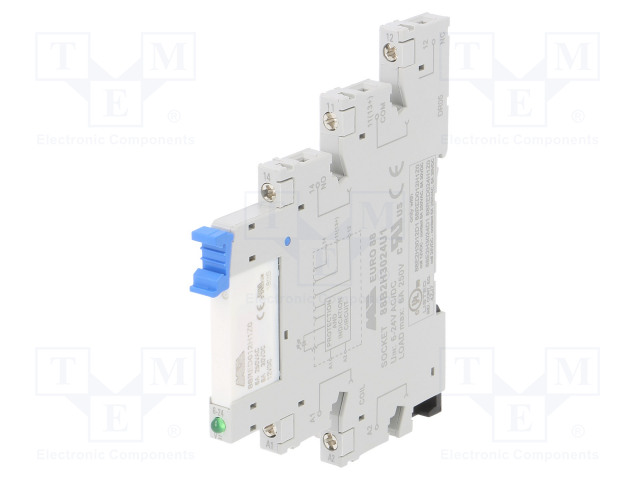 88E2H3012D1_Relay: interface; SPDT; Ucoil:12VDC; 6A; 6A/250VAC; 6A/30VDC; IP20