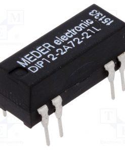 DIP12-2A72-21L_Relay: reed; DPST-NO; Ucoil:12VDC; 1A; max.200VDC; max.200VAC; PCB