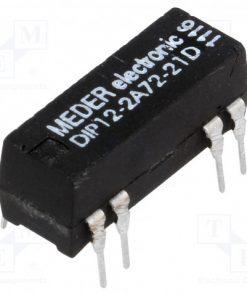 DIP12-2A72-21D_Relay: reed; DPST-NO; Ucoil:12VDC; 1A; max.200VDC; max.200VAC; PCB