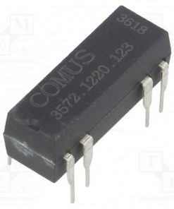 3572.1220.123_Relay: reed; DPST-NO; Ucoil:12VDC; 500mA; max.150VDC; 10W; THT