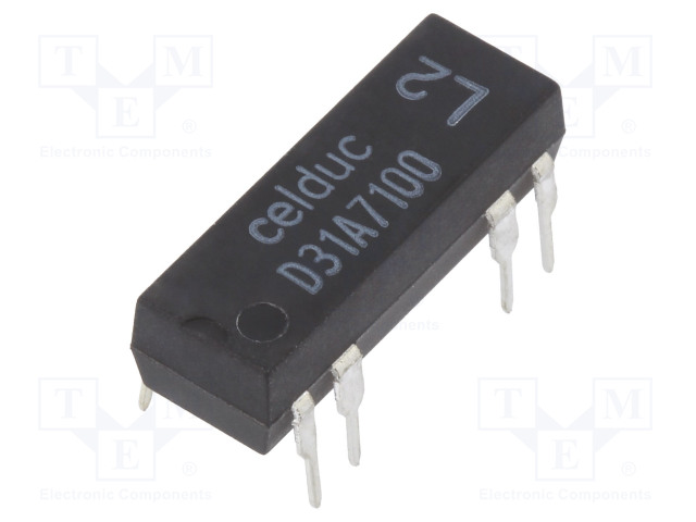 D31A7100_Relay: reed; SPST-NO; Ucoil:24VDC; 1A; max.100VDC; 10W; Rcoil:2150Ω