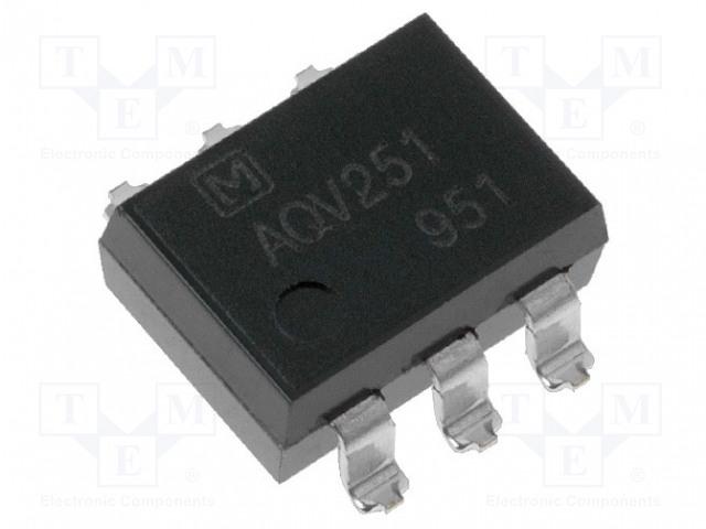 AQV251AJ_Relay: solid state; Icntrl max:3mA; 500mA; max.40VAC; max.40VDC