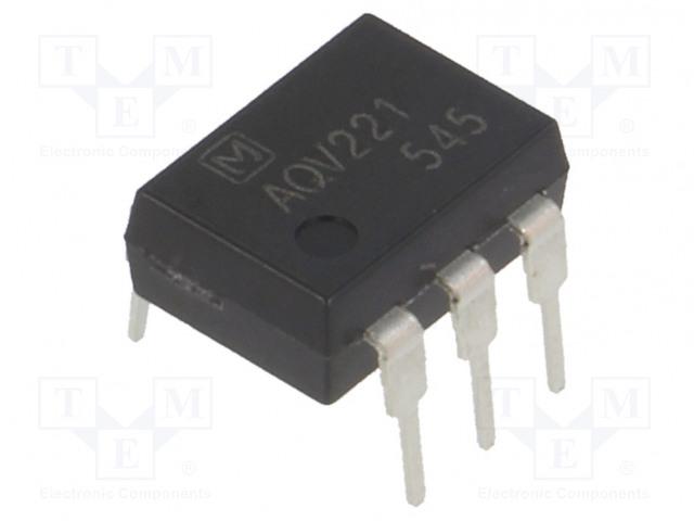 AQV221_Relay: solid state; Icntrl max:3mA; 80mA; max.40VAC; max.40VDC