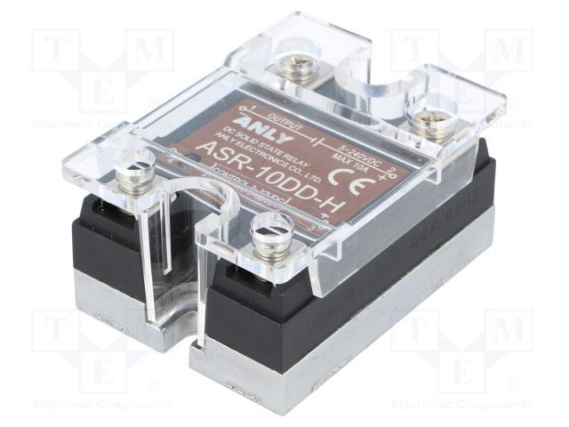 ASR-10DD-H_Relay: solid state; Ucntrl:3÷32VDC; 10A; 5÷240VDC; Series: ASR