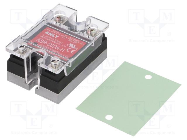 ASR-50DA-H_Relay: solid state; Ucntrl:4÷32VDC; 50A; 48÷480VAC; Series: ASR