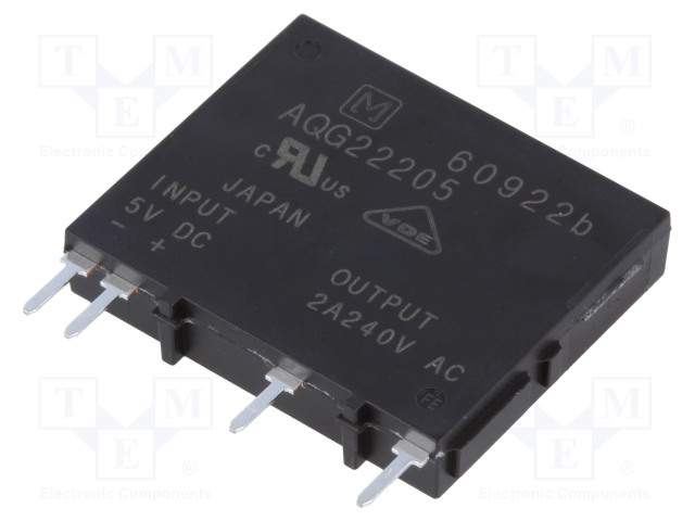 AQG22205_Relay: solid state; Ucntrl:4÷6VDC; 2A; 75÷264VAC; Variant:1-phase