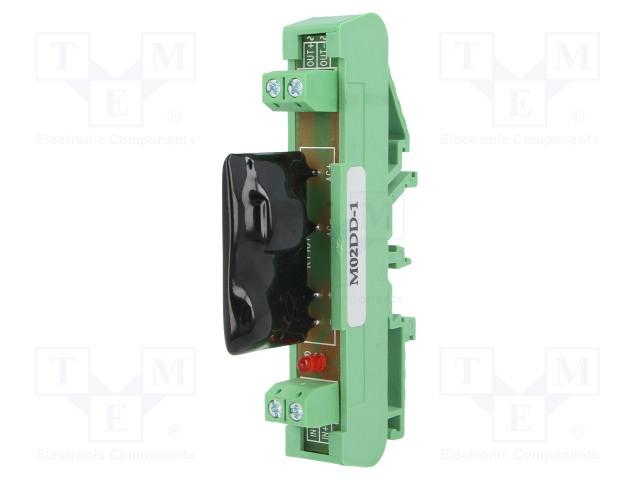 ASR-M02DD-1_Relay: solid state; Ucntrl:5÷32VDC; 2A; 3÷60VDC; DIN; Series: ASR-M