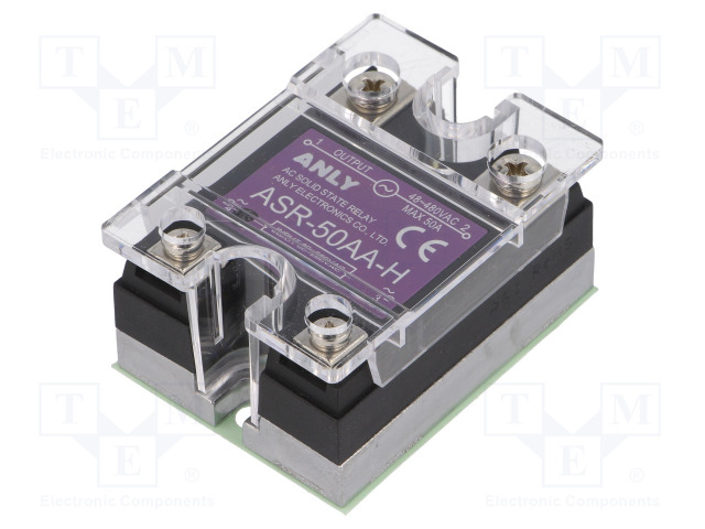 ASR-50AA-H_Relay: solid state; Ucntrl:80÷280VAC; 50A; 48÷480VAC; Series: ASR