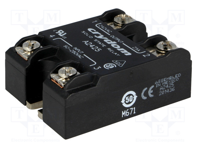 A2425_Relay: solid state; Ucntrl:90÷280VAC; 25A; 24÷280VAC; -40÷80°C