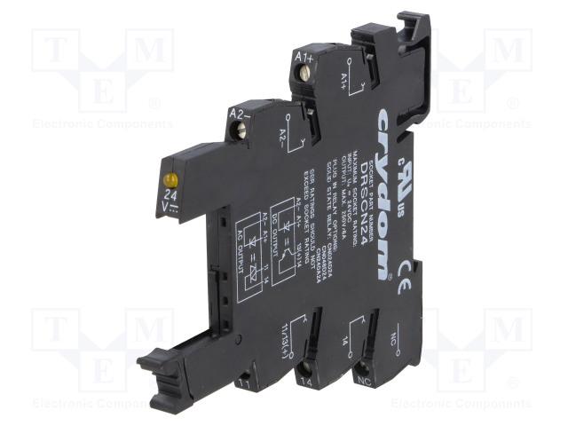 DRSCN24_Relays accessories: socket; Ucntrl:15÷30VDC; DIN; Series: CN