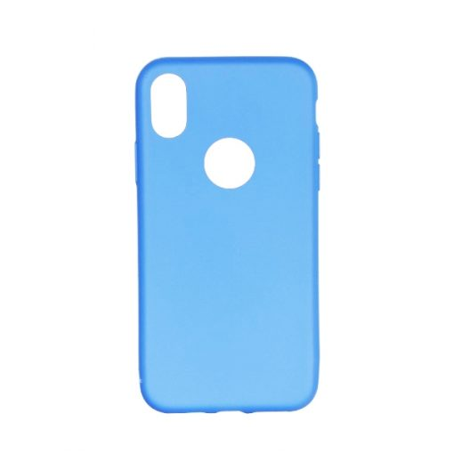SESTIPXLBL_SENSO SOFT TOUCH IPHONE X XS light blue WITH HOLE backcover