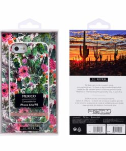 SSBKC0358_SO SEVEN MEXICO PINK FLOWER IPHONE 6 7 8 SE (2020) backcover