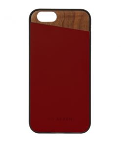 SVNCSCABDIP7_SO SEVEN DANDY WOOD IPHONE 7 / 8 / SE (2020) crimson backcover