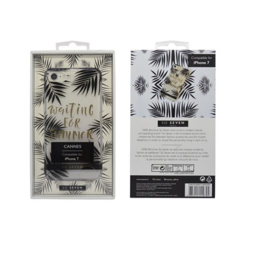 SVNCSCAN4IP7_SO SEVEN FASHION CANNES WAITING SUMMER IPHONE 7 / 8 / SE (2020) trans backcover