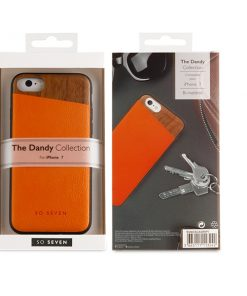 SVNCSCAORIP7_SO SEVEN DANDY WOOD IPHONE 7 / 8 / SE (2020) orange backcover