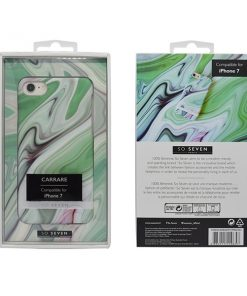 SVNCSCARRA2IP7_SO SEVEN CARRARE MARBLEIPHONE 7 / 8 / SE (2020) green backcover