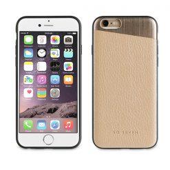 SVNCSMPU1IP7_SO SEVEN METALLIC PU IPHONE 7 / 8 / SE (2020) gold backcover