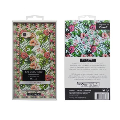 SVNCSRIO2IP7_SO SEVEN RIO PINK HIBISCUS IPHONE 7 / 8 / SE (2020) backcover