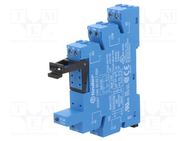93.02.7.024_Socket; 6A; 250VAC; Mounting: DIN; Series:41.52
