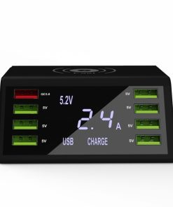 TOOL-PS5_60W POWER STATION 8 PORT USB + QC3 + WIRELESS with LCD