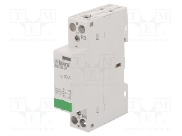 30.046.874_Contactor:1-pole installation; NC; 24VAC; 24VDC; 20A; DIN; IKD