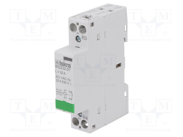 30.046.878_Contactor:1-pole installation; NC; 24VAC; 24VDC; 32A; DIN; IKD