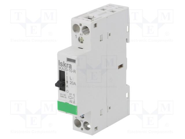 30.046.903_Contactor:1-pole installation; NO; 24VAC; 20A; DIN; IKA-R