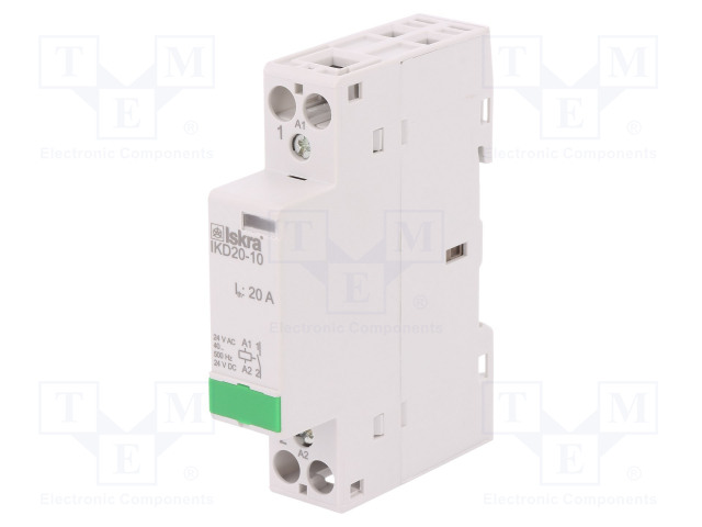 30.046.590_Contactor:1-pole installation; NO; 24VAC; 24VDC; 20A; DIN; IKD