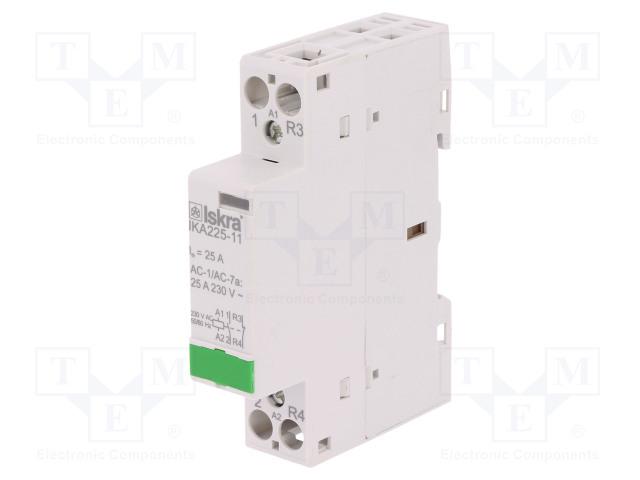 30.046.715_Contactor:2-pole installation; NC + NO; 230VAC; 25A; DIN; IKA