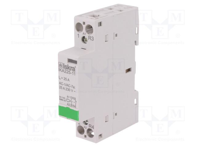 30.046.712_Contactor:2-pole installation; NC + NO; 24VAC; 25A; DIN; IKA