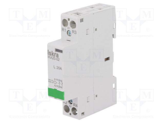 30.046.010_Contactor:2-pole installation; NC x2; 230VAC; 20A; DIN; IKA