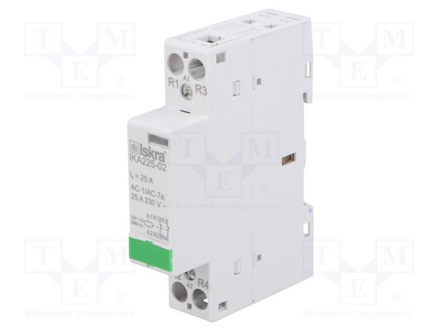 30.046.845_Contactor:2-pole installation; NC x2; 230VAC; 25A; DIN; IKA