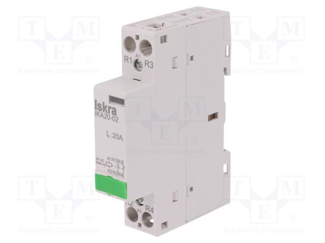 30.046.023_Contactor:2-pole installation; NC x2; 24VAC; 20A; DIN; IKA